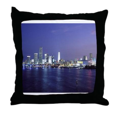 Miami at Twilight Throw Pillow