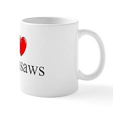 """I Love (Heart) Chainsaws"" Mug"