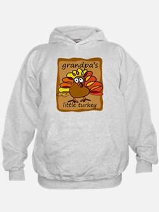 Grandpa's Little Turkey Thanksgiving Hoodie