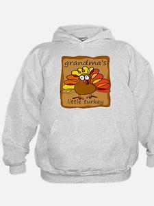 Grandma's Little Turkey Thanksgiving Hoodie