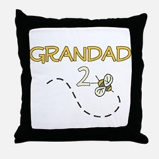Grandad to Be (Bee) Throw Pillow