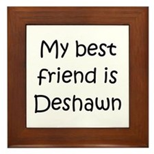 Funny Deshawn Framed Tile