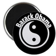 Black and White Obama Magnet