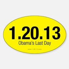 Obama's Last Day Yellow Decal
