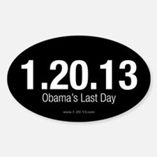 Obama's Last Day Reversed Decal