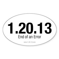 End of an Error White Decal