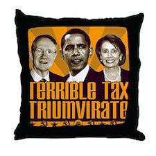Tax Triumvirate Throw Pillow