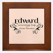 Twilight Edward Lovely Framed Tile