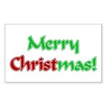 Christ in Christmas Rectangle Sticker 50 pk)