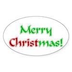 Christ in Christmas Oval Sticker (50 pk)