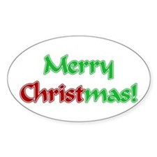 Christ in Christmas Oval Sticker (10 pk)
