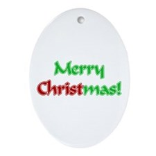 Christ in Christmas Oval Ornament