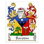 Borodin Family Crest Small Poster