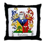 Borodin Family Crest Throw Pillow