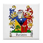 Borodin Family Crest Tile Coaster