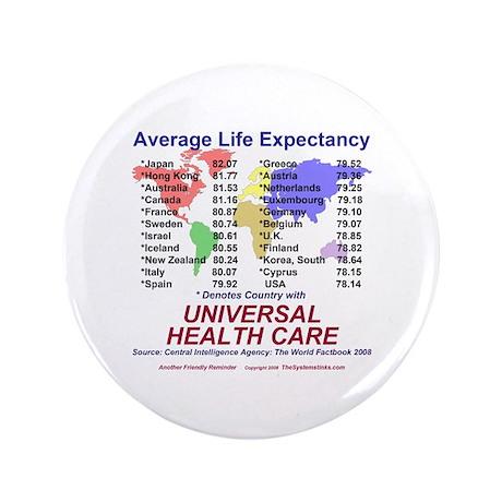 """Universal Health Care 3.5"""" Button"""