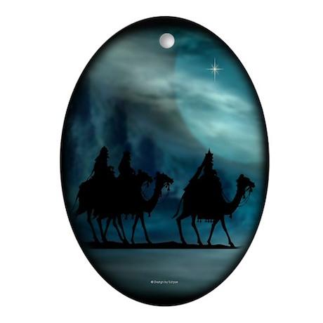 Charistmas Wisemen Oval Ornament