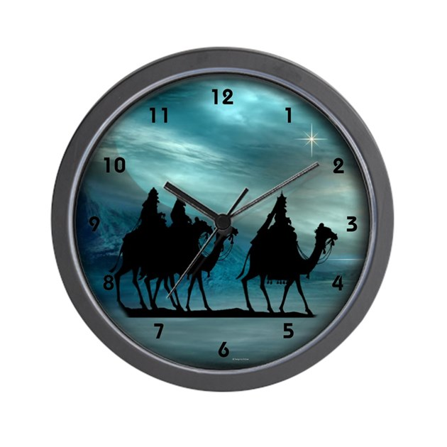Christmas wisemen wall clock by eclipsedesigns