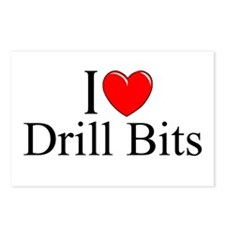 """""""I Love (Heart) Drill Bits"""" Postcards (Package of"""