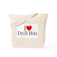 """I Love (Heart) Drill Bits"" Tote Bag"