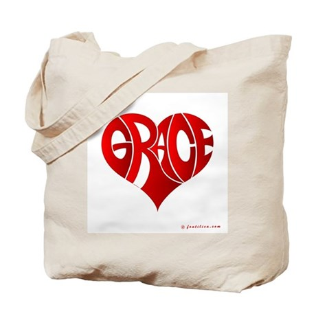 Grace (Red Heart) Tote Bag