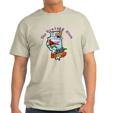 """Illinois Pride"" Light T-Shirt"