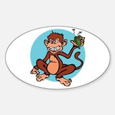 Drunken Monkey Oval Decal