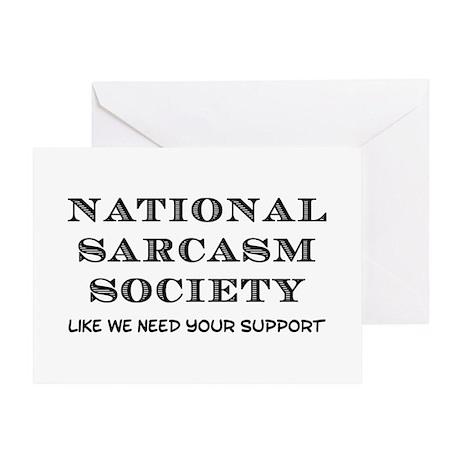 National Sarcasm Greeting Card