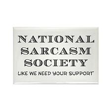 National Sarcasm Rectangle Magnet