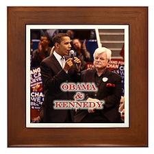 Obama & Kennedy Framed Tile