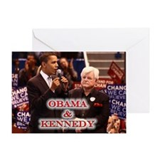 Obama & Kennedy Greeting Card
