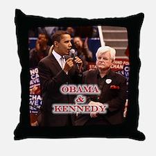 Obama & Kennedy Throw Pillow