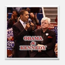 Obama & Kennedy Tile Coaster