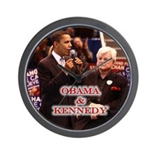 Obama & Kennedy Wall Clock