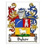 Bykov Family Crest Small Poster
