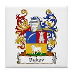 Bykov Family Crest Tile Coaster