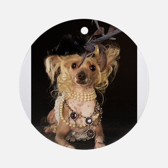 Crested Hairless Ornament (Round)