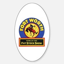 Fort Worth Texas Oval Decal