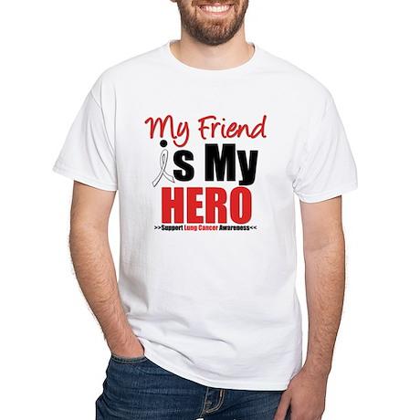 Lung Cancer Hero (Friend) White T-Shirt