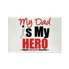 Lung Cancer Hero (Dad) Rectangle Magnet