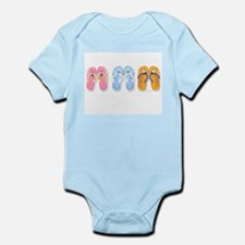 3 pairs flip-flops for mess Body Suit