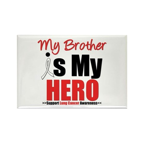 Lung Cancer Hero (Brother) Rectangle Magnet