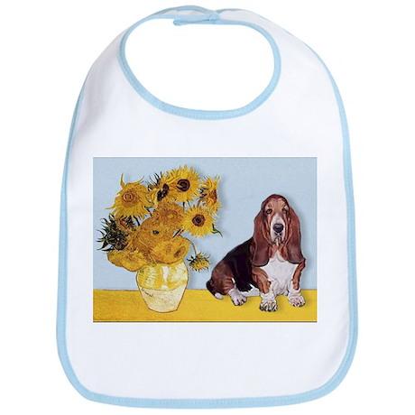 Sunflowers & Basset Bib