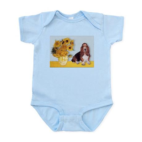 Sunflowers & Basset Infant Bodysuit