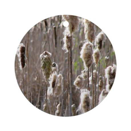 Blooming Cattails Ornament (Round)