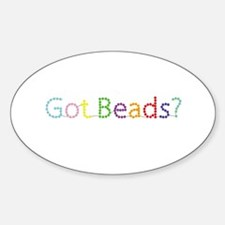Got Beads? Oval Decal