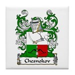 Chesnokov Family Crest Tile Coaster
