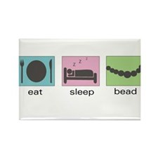 Eat. Sleep. Bead. Rectangle Magnet
