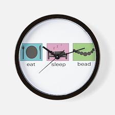 Eat. Sleep. Bead. Wall Clock