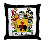 Dembinsky Family Crest Throw Pillow